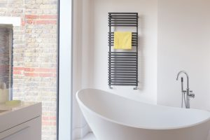 Straight Fronted Towel Rail - Bisque