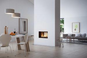 Rais Visio Tunnel 2:1 Inset Wood Burning Fireplace 6kW