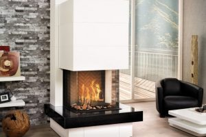 Ortal Three Sided Gas Fire