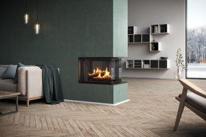 Rais Visio 3:1 Three Sided Room Divider Fireplace 7kw